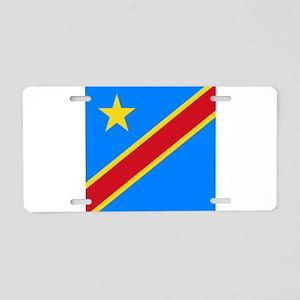 Flag of Congo Aluminum License Plate