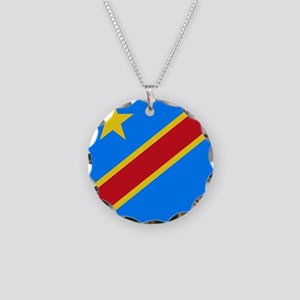 Flag of Congo Necklace Circle Charm