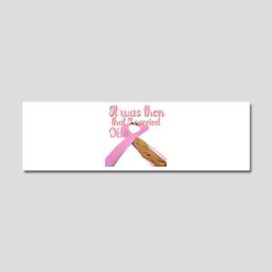 breast cancer Car Magnet 10 x 3