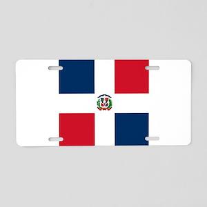 Flag of the Dominican Republic Aluminum License Pl