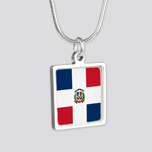 Flag of the Dominican Republic Necklaces