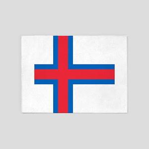 Flag of the Faroe Islands 5'x7'Area Rug