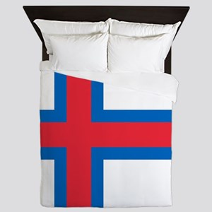 Flag of the Faroe Islands Queen Duvet