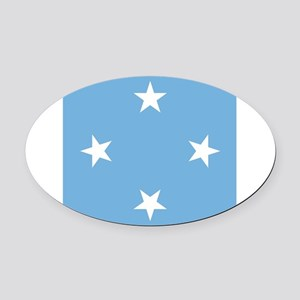 Flag of Micronesia Oval Car Magnet