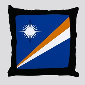 Flag of the Marshall Islands Throw Pillow
