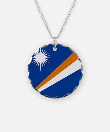 Flag of the Marshall Islands Necklace