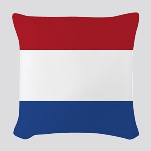 Flag of the Netherlands Woven Throw Pillow