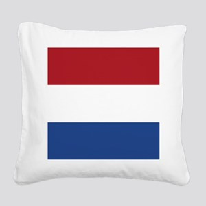 Flag of the Netherlands Square Canvas Pillow