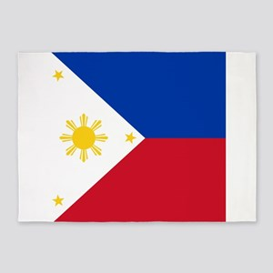 Flag of the Philippines 5'x7'Area Rug