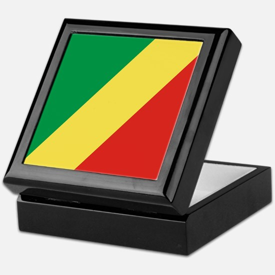 Flag of the Republic of the Congo Keepsake Box
