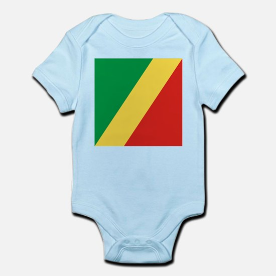 Flag of the Republic of the Congo Body Suit