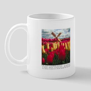 Netherlands Tulips (Dark) Mug