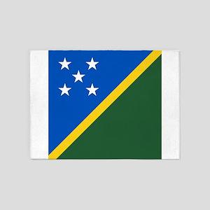 Flag of the Solomon Islands 5'x7'Area Rug