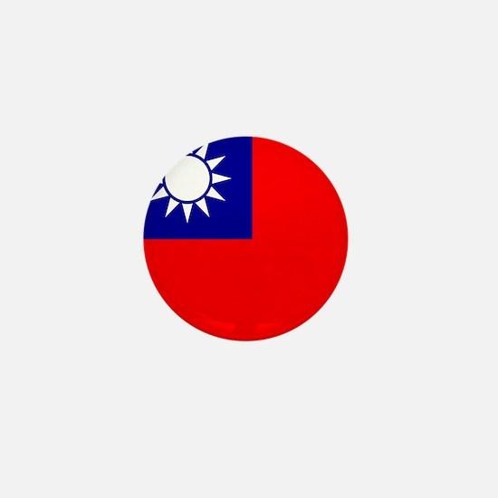 Flag of Taiwan Mini Button