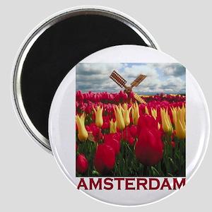 Amsterdam Tulips Magnet