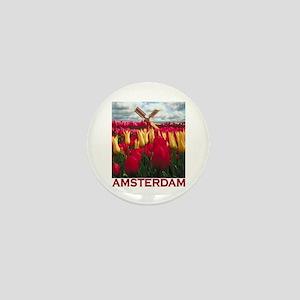 Amsterdam Tulips Mini Button