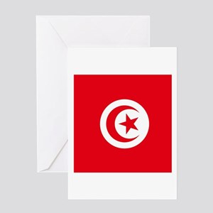 Flag of Tunisia Greeting Cards