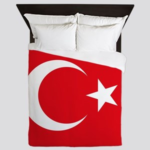 Flag of Turkey Queen Duvet