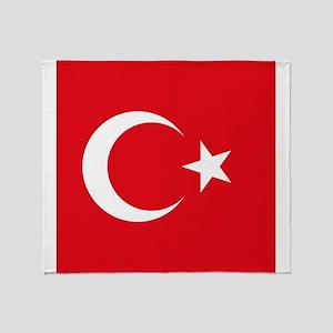 Flag of Turkey Throw Blanket
