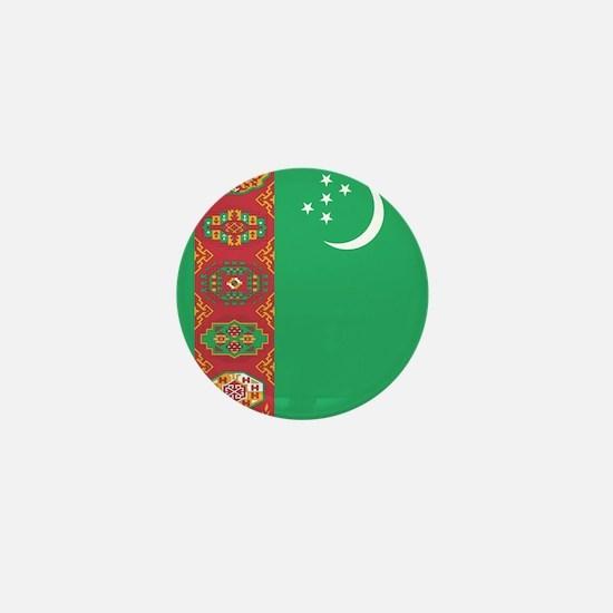 Flag of Turkmenistan Mini Button (10 pack)