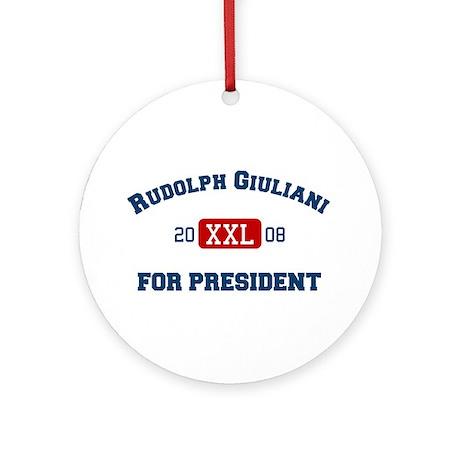 Rudolph Giuliani for President Ornament (Round)