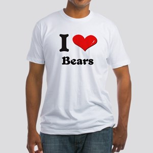 I love bears Fitted T-Shirt