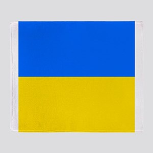Flag of Ukraine Throw Blanket