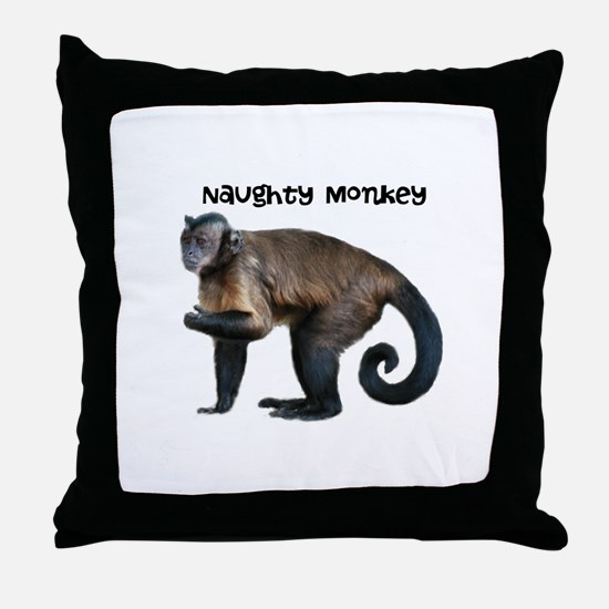 Personalizable Monkey Photo Throw Pillow
