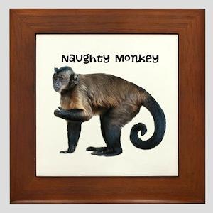 Naughty Monkey Framed Tile