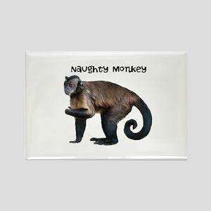 Personalizable Monkey Photo Rectangle Magnet