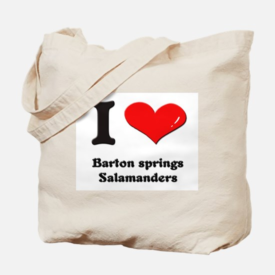 I love barton springs salamanders Tote Bag