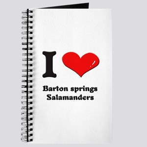 I love barton springs salamanders Journal