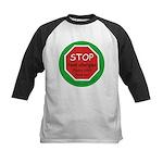 STOP food allergies. Kids Baseball Jersey