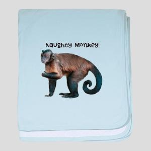 Personalizable Monkey Photo baby blanket