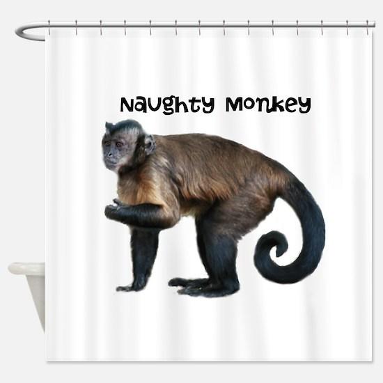 Personalizable Monkey Photo Shower Curtain