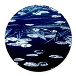 Here and now Round Car Magnet