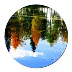 Fall colors Round Car Magnet