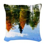 Fall colors Woven Throw Pillow