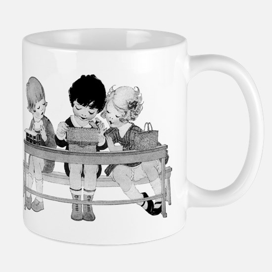 Adorable Vintage Children having lunch Mugs