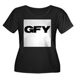 GFY Women's Plus Size Scoop Neck Dark T-Shirt