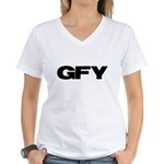 GFY Women's V-Neck T-Shirt