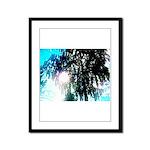 Sun glare Framed Panel Print