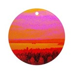 Sunset glow Ornament (Round)