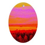 Sunset glow Ornament (Oval)