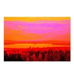 Sunset glow Postcards (Package of 8)