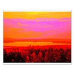 Sunset glow Posters
