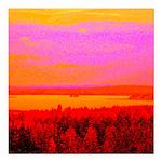 Sunset glow Square Car Magnet 3