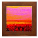 Sunset glow Framed Tile