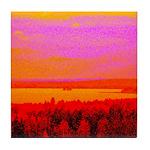 Sunset glow Tile Coaster