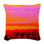 Sunset glow Woven Throw Pillow